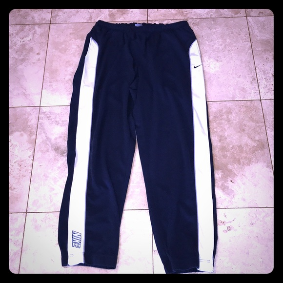 Nike Other - Vtg Nike Navy & White Jogger Track Pants Sz XXL
